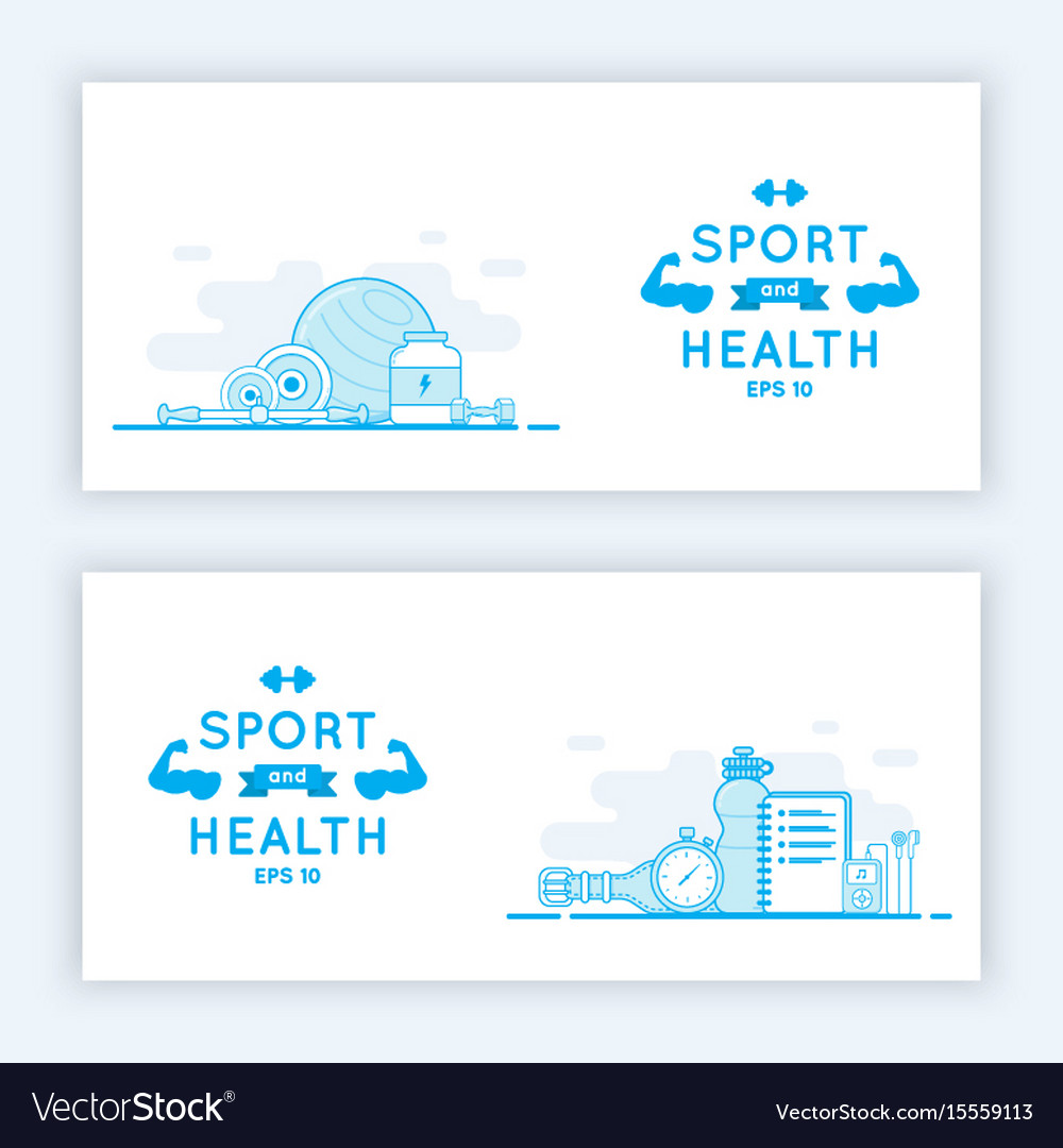 Sport and fitness banners