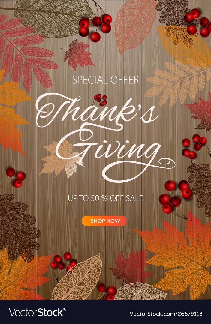 Thanksgiving day banner background celebration