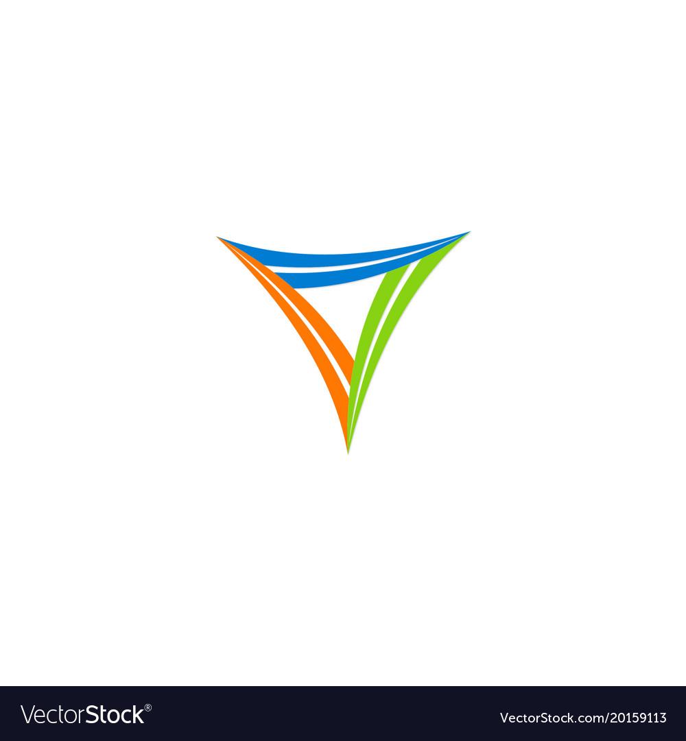 Triangle shape circle logo