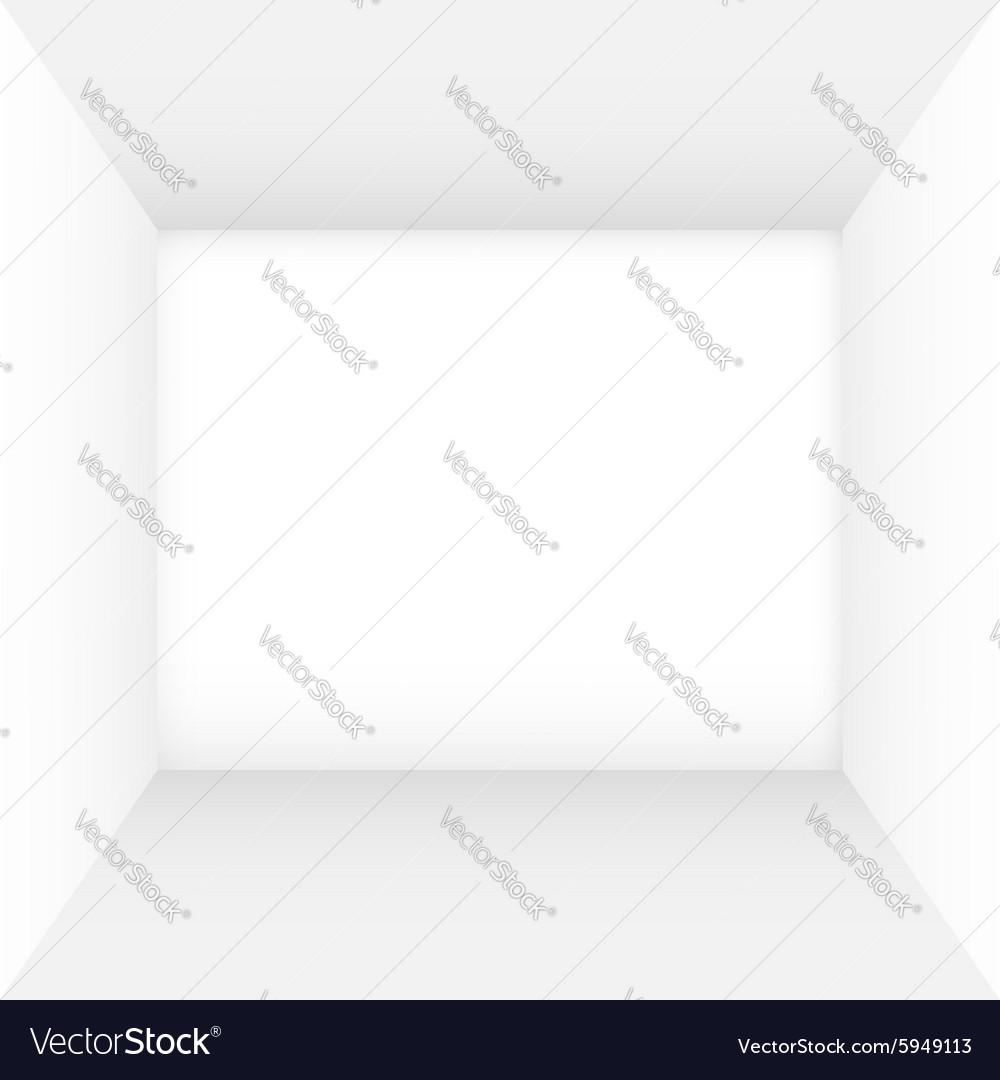 White empty room vector image