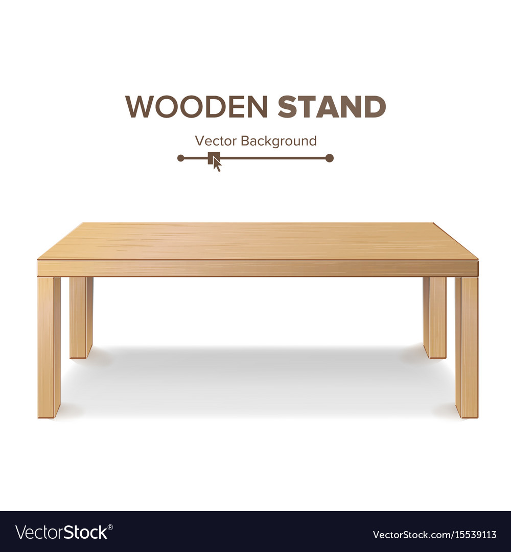 Table Stand Template For Vector Image