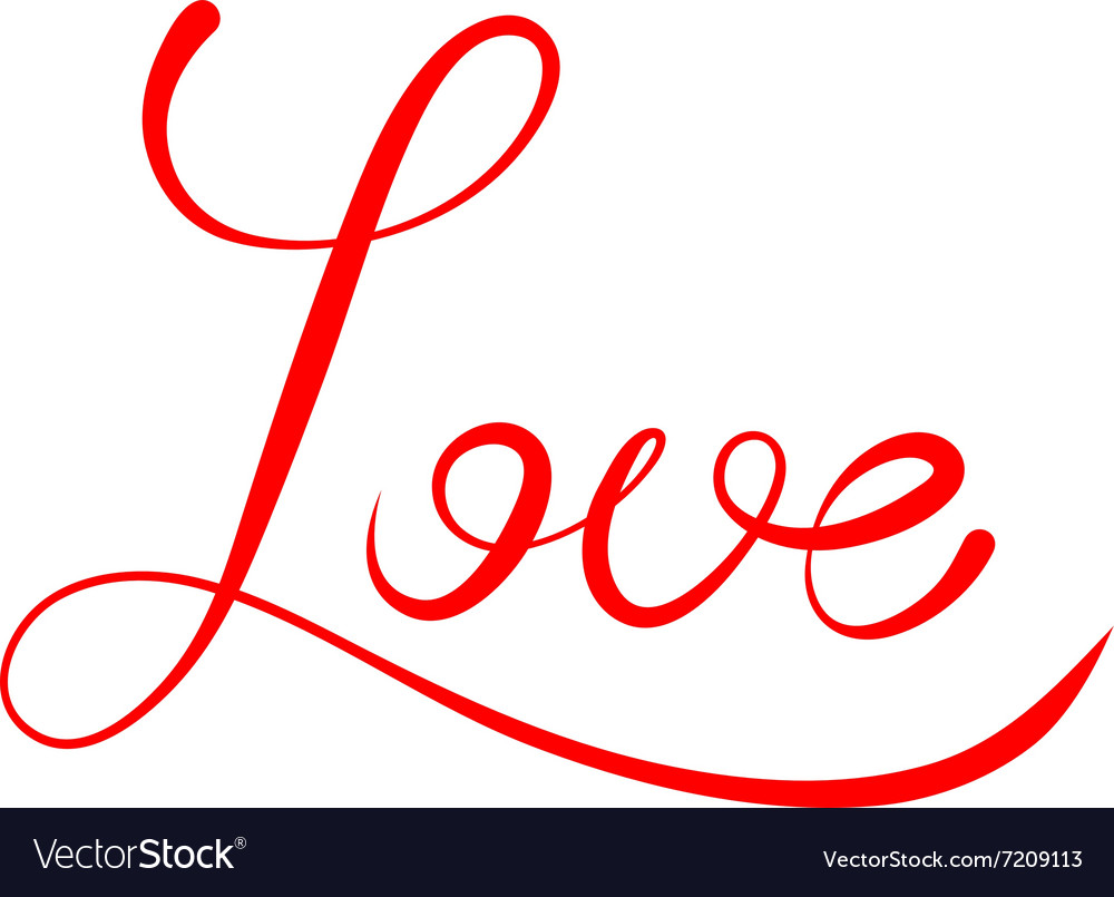 word love script royalty free vector image vectorstock