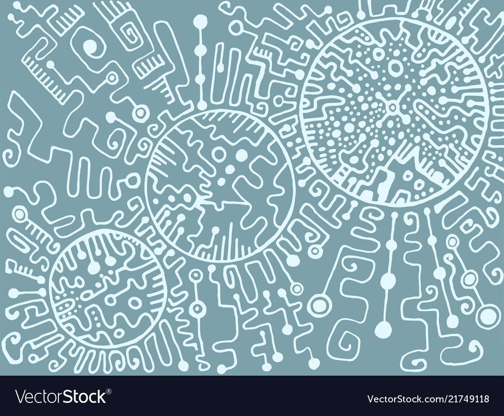 Abstract ornamental labyrinth white outline on a