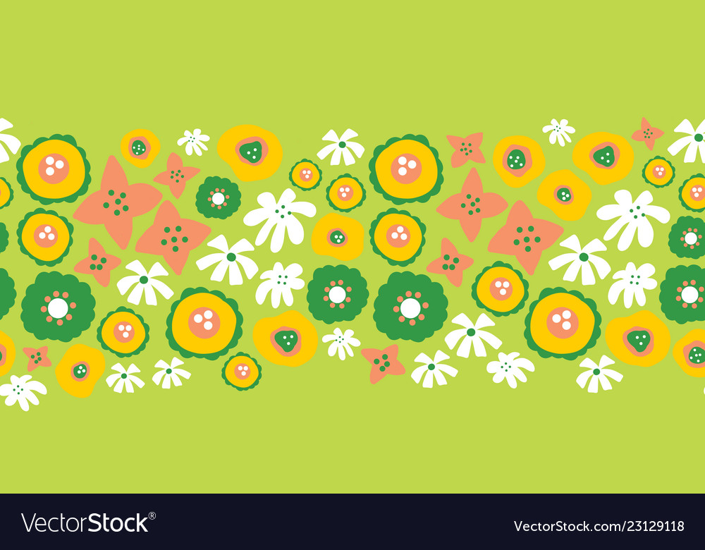 Floral seamless repeat border easter spring