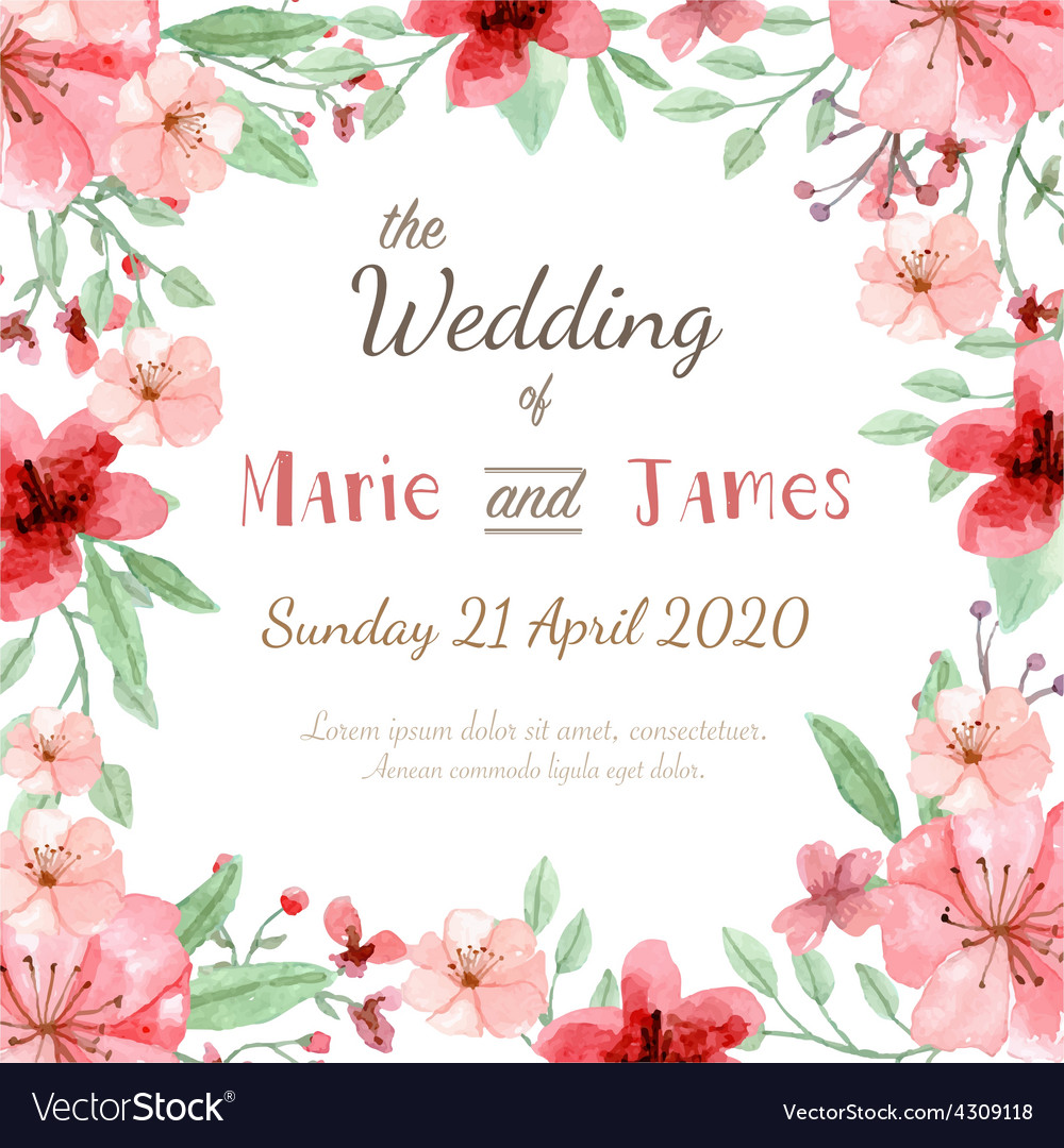 Flower invitation card royalty free vector image flower invitation card vector image stopboris Image collections