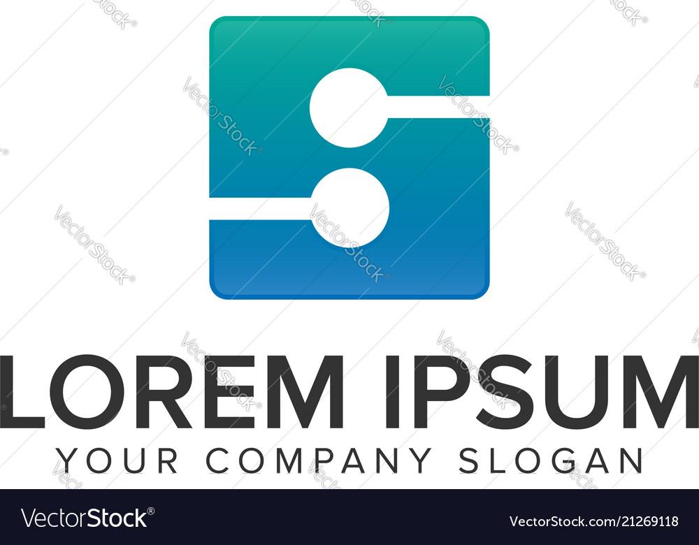 Letter s electricity logo design concept template vector image