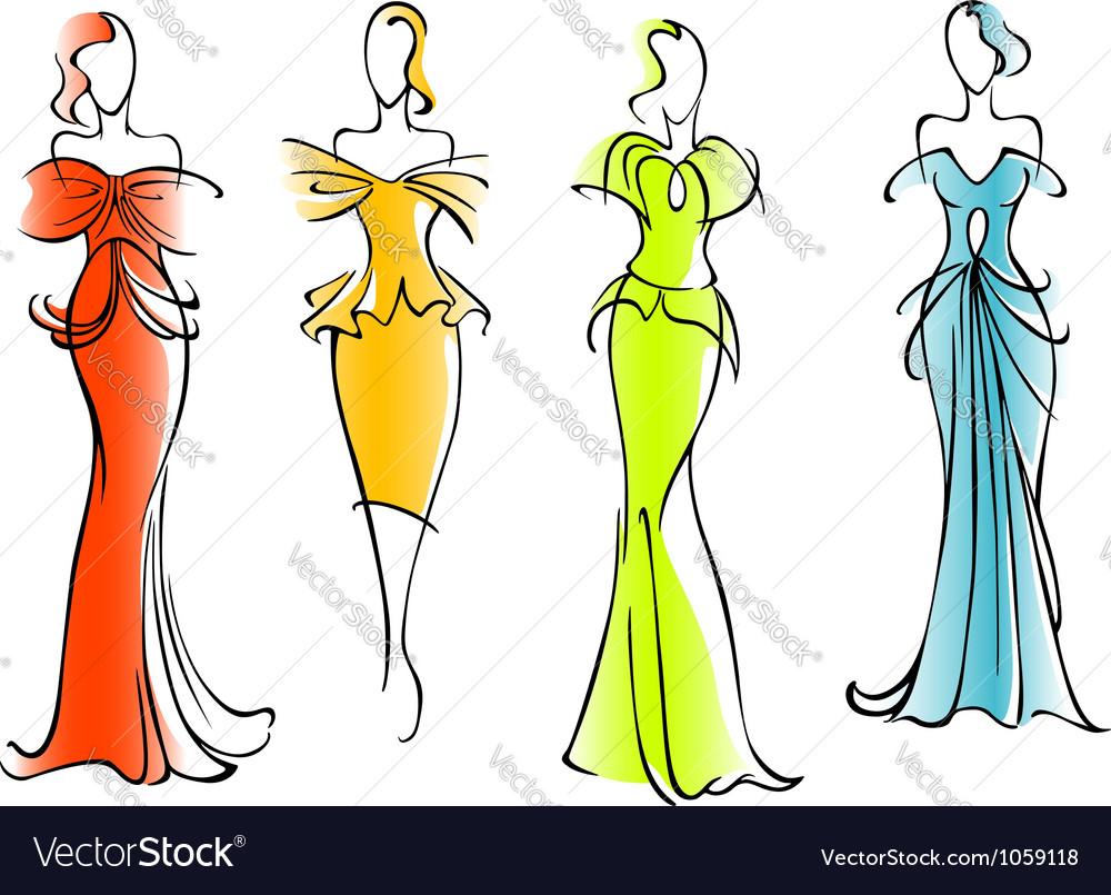 Modern and elegant dresses