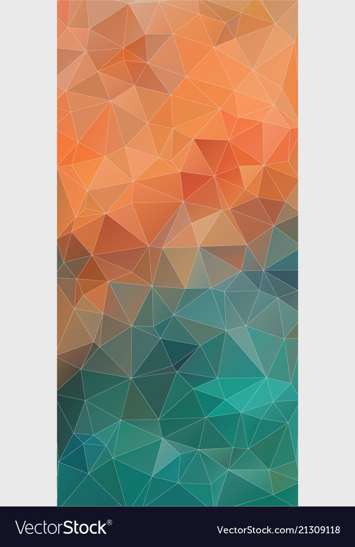 Vertical triangle orange and green gradient