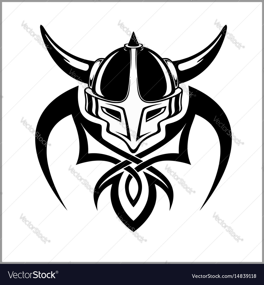 viking warrior emblem royalty free vector image