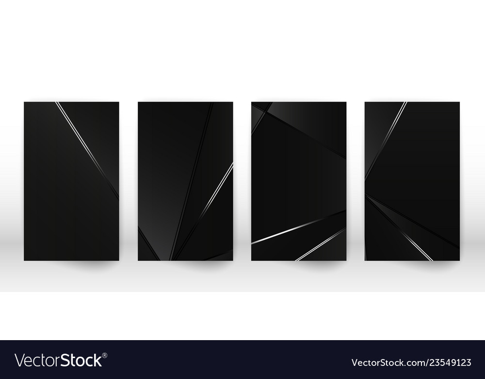Abstract polygonal pattern luxury dark cover