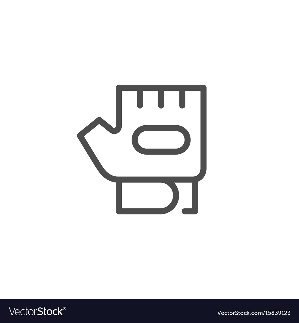 Fitness glove line icon vector image