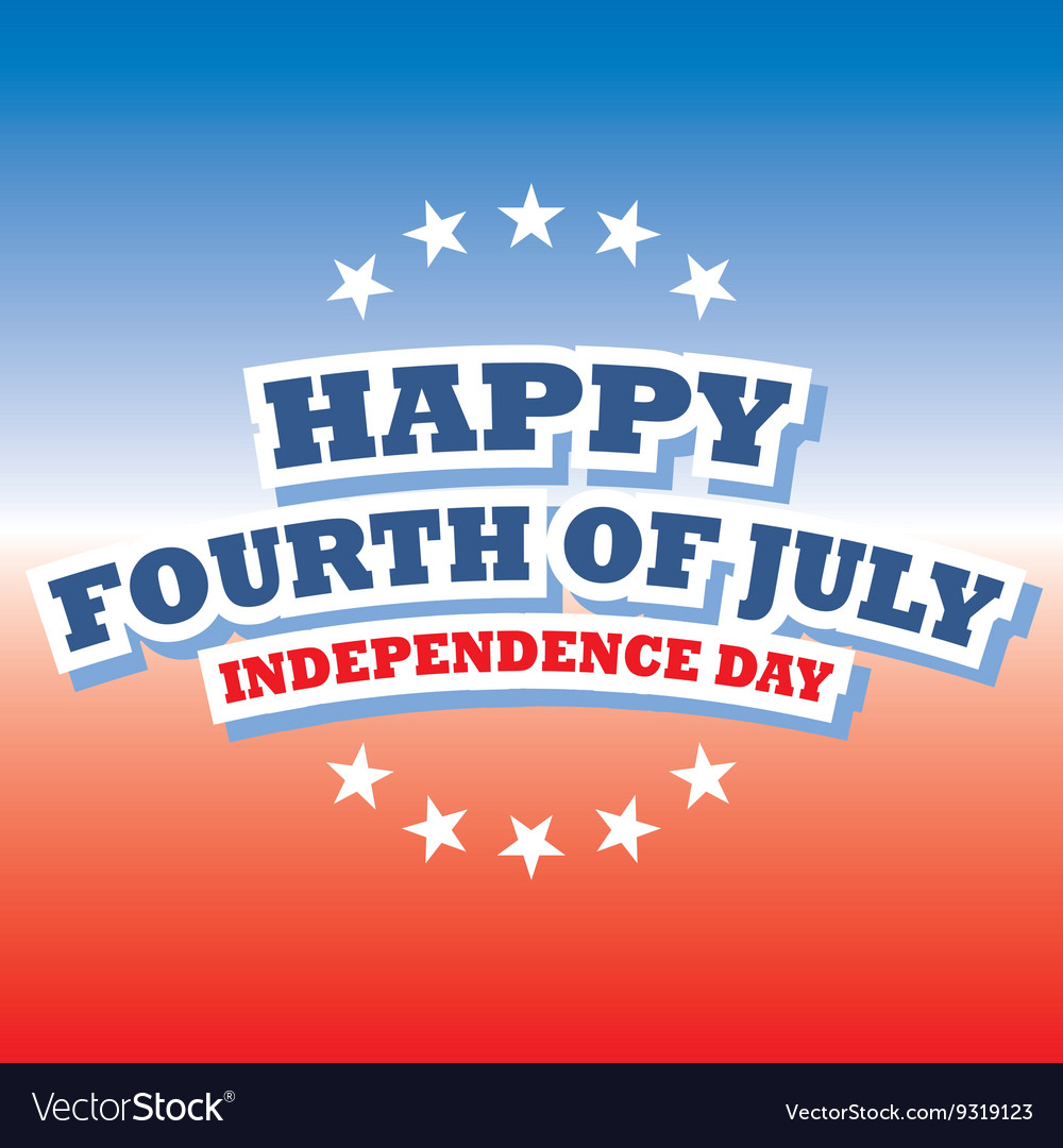 Happy fourth of july america greeting card vector image m4hsunfo