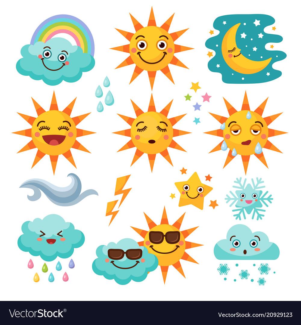 Various weather icon set