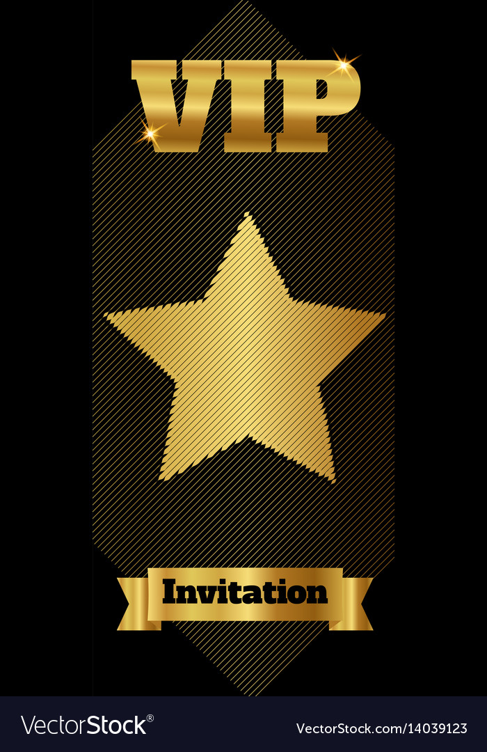 Vip club party premium invitation card flyer with vector image stopboris Images