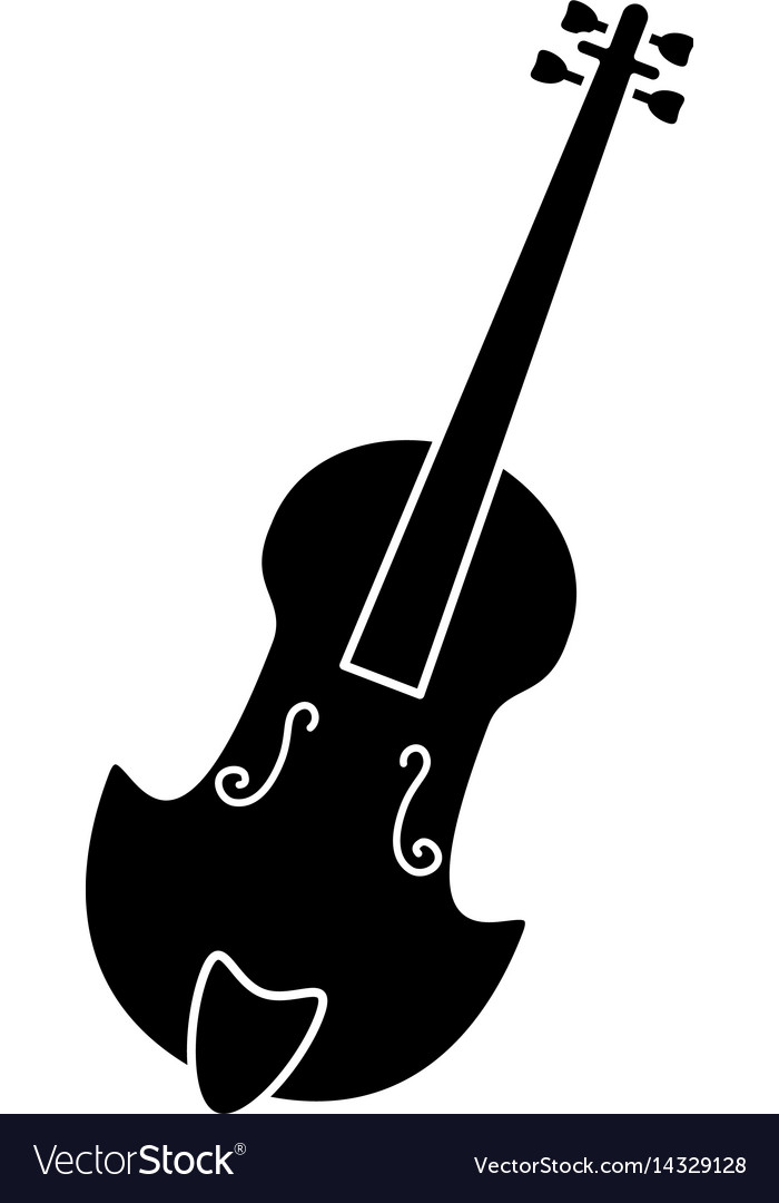Fiddle classical music instrument pictogram vector image