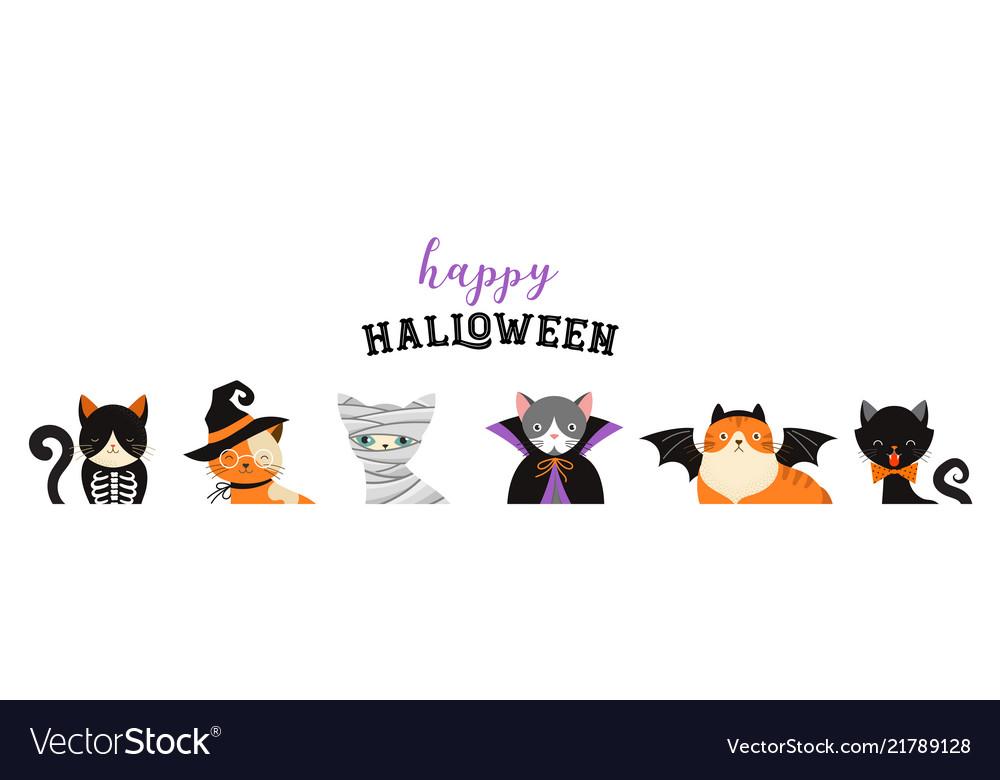 Happy halloween - cats in monsters costumes