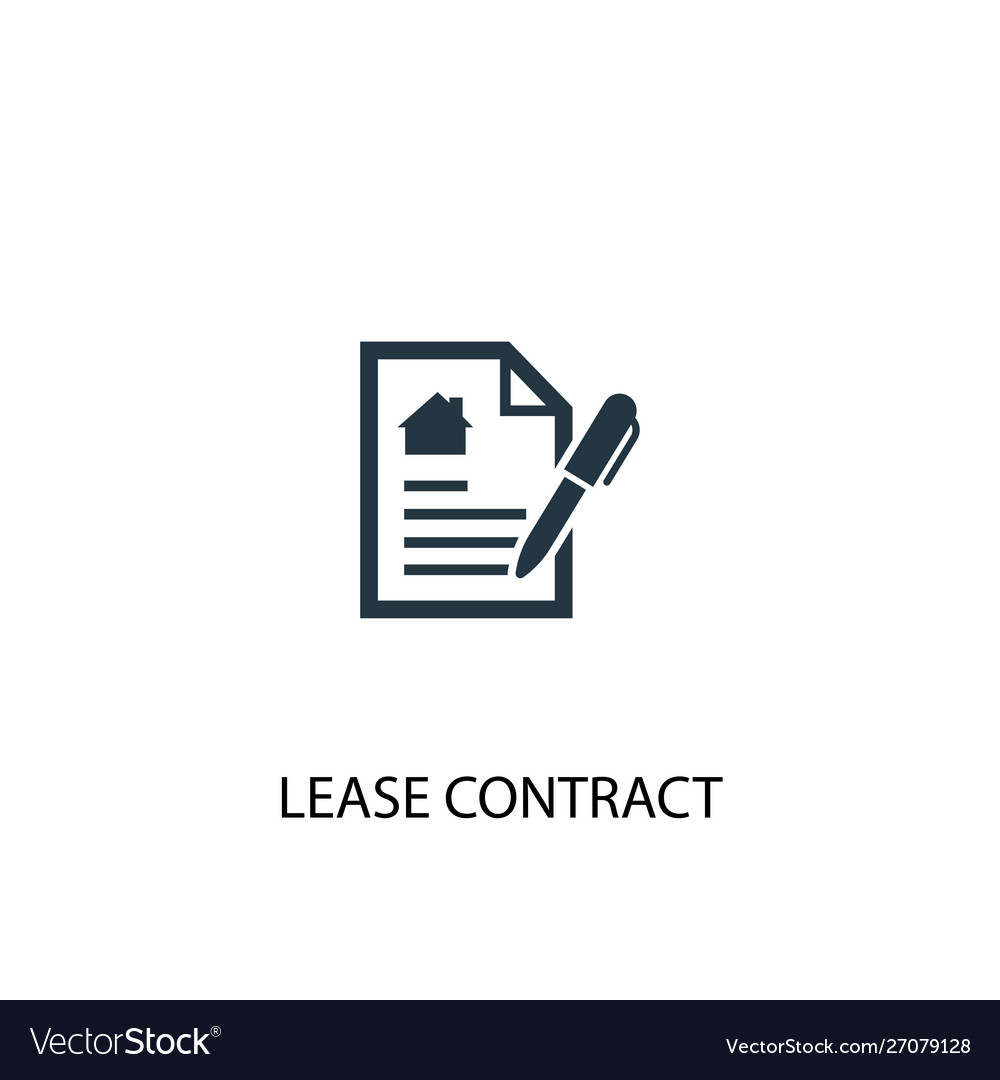 Lease contract icon simple element