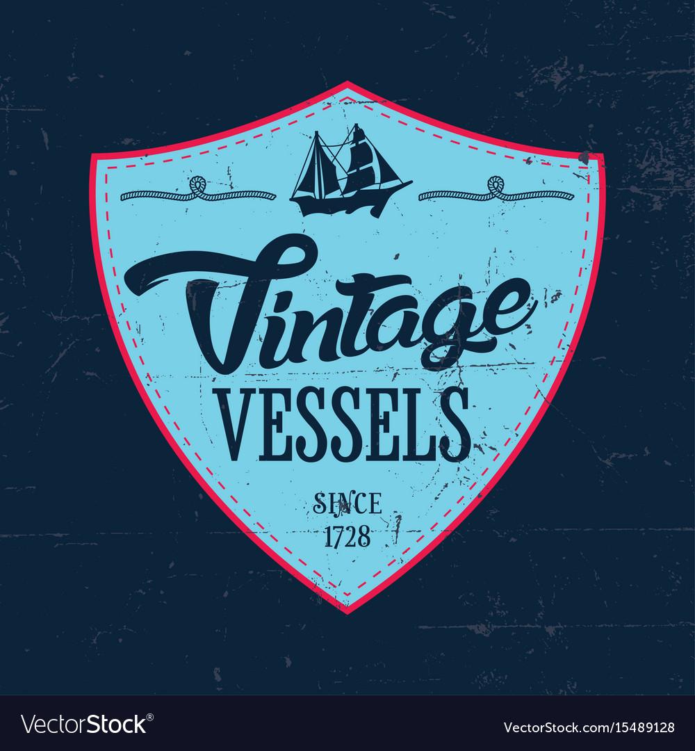 Vintage vessels label poster