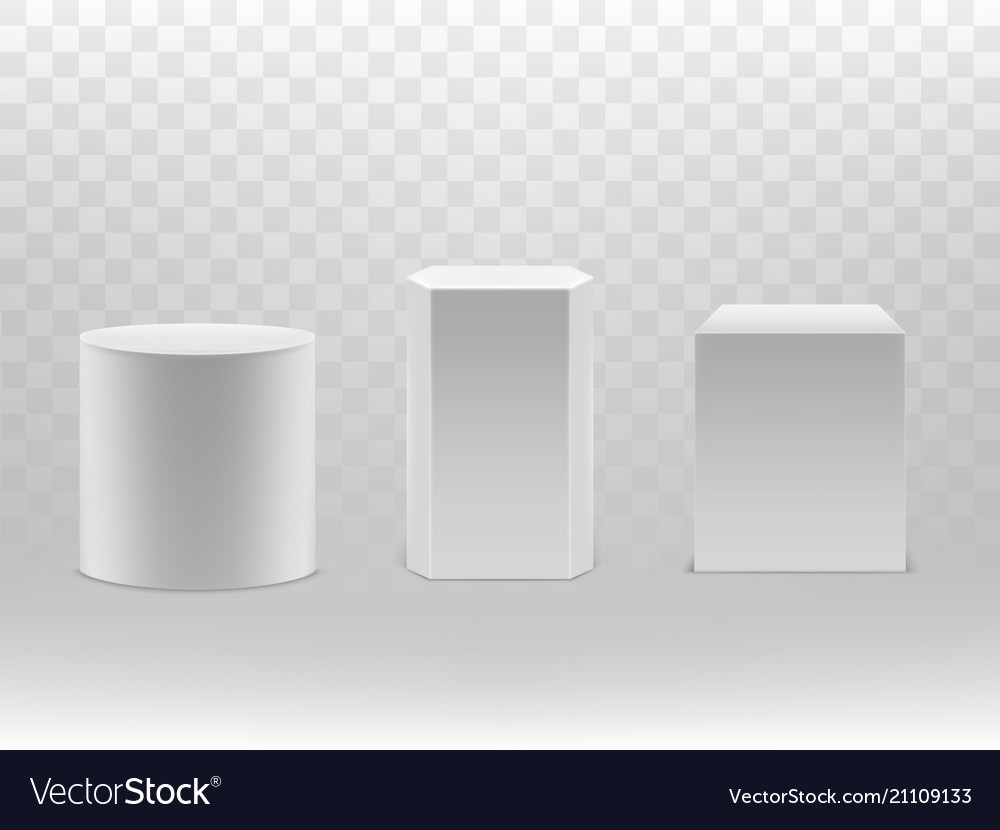 3d realistic geometrical shapes cylinder