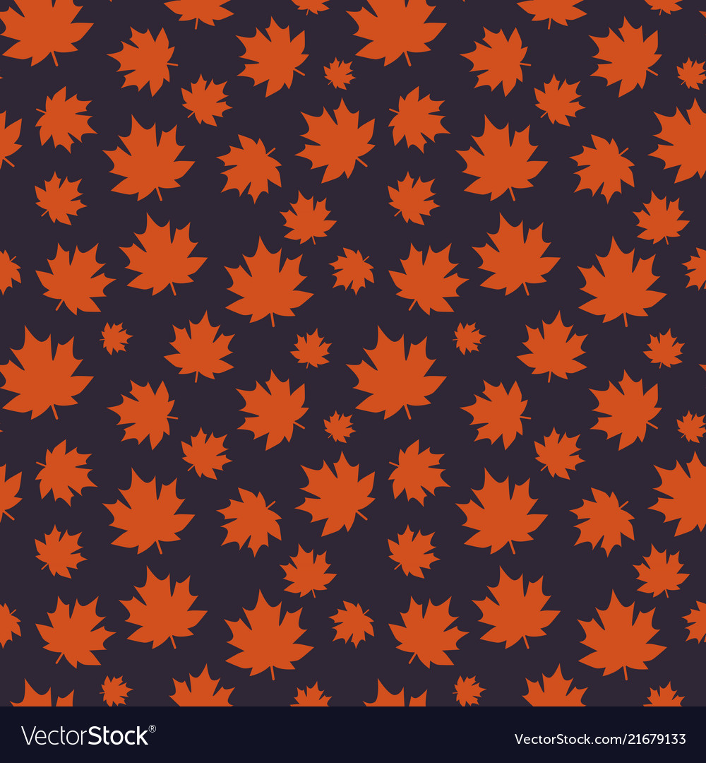 Autumn seamless pattern with maple leaves on