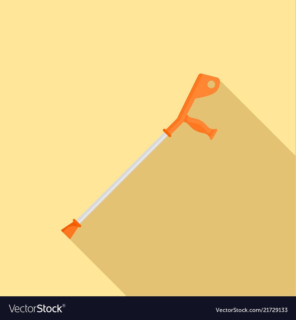 Crutch icon flat style