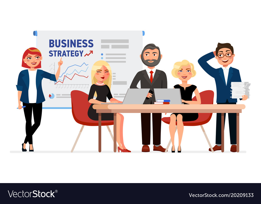 BUSINESS MEETING stock illustration. Illustration of ... |Business Meeting Cartoon Person