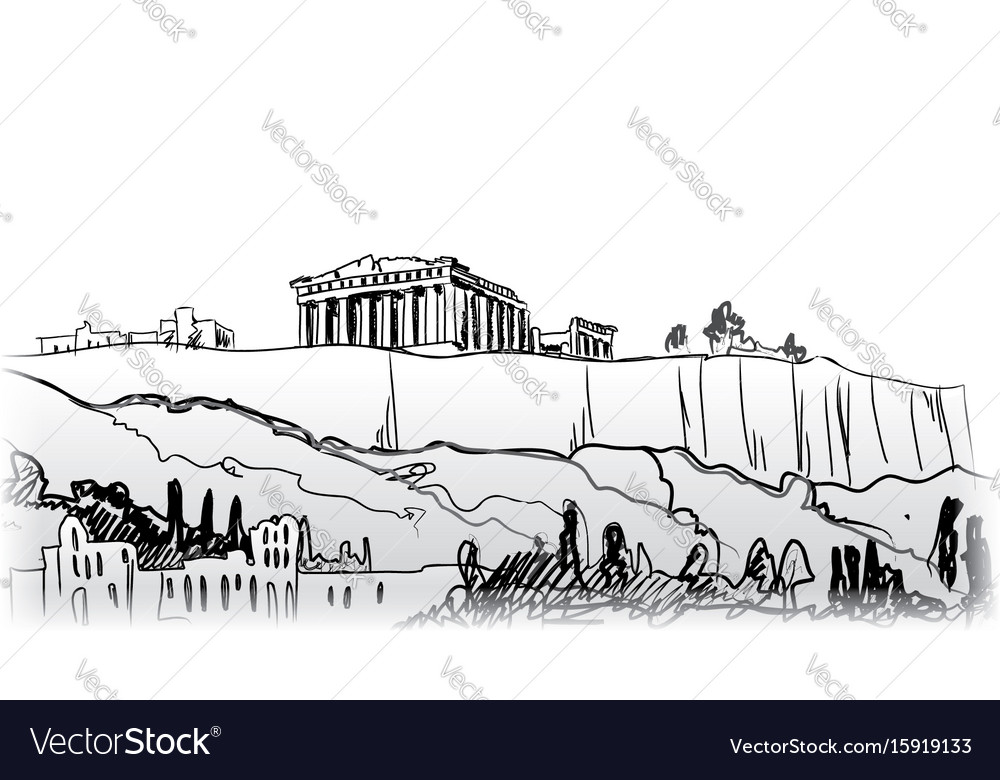 Travel greece background athens city famous