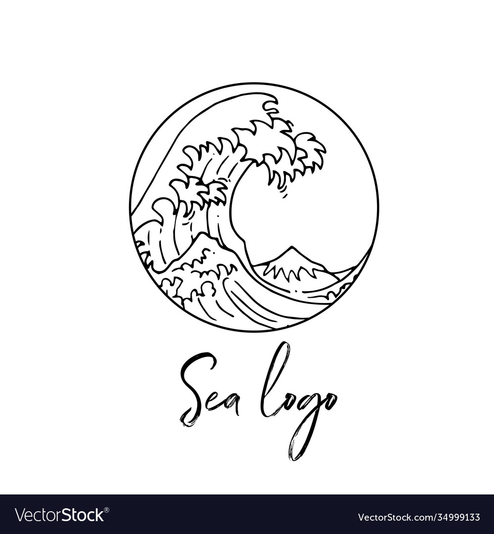 Wave logo beautiful minimalistic