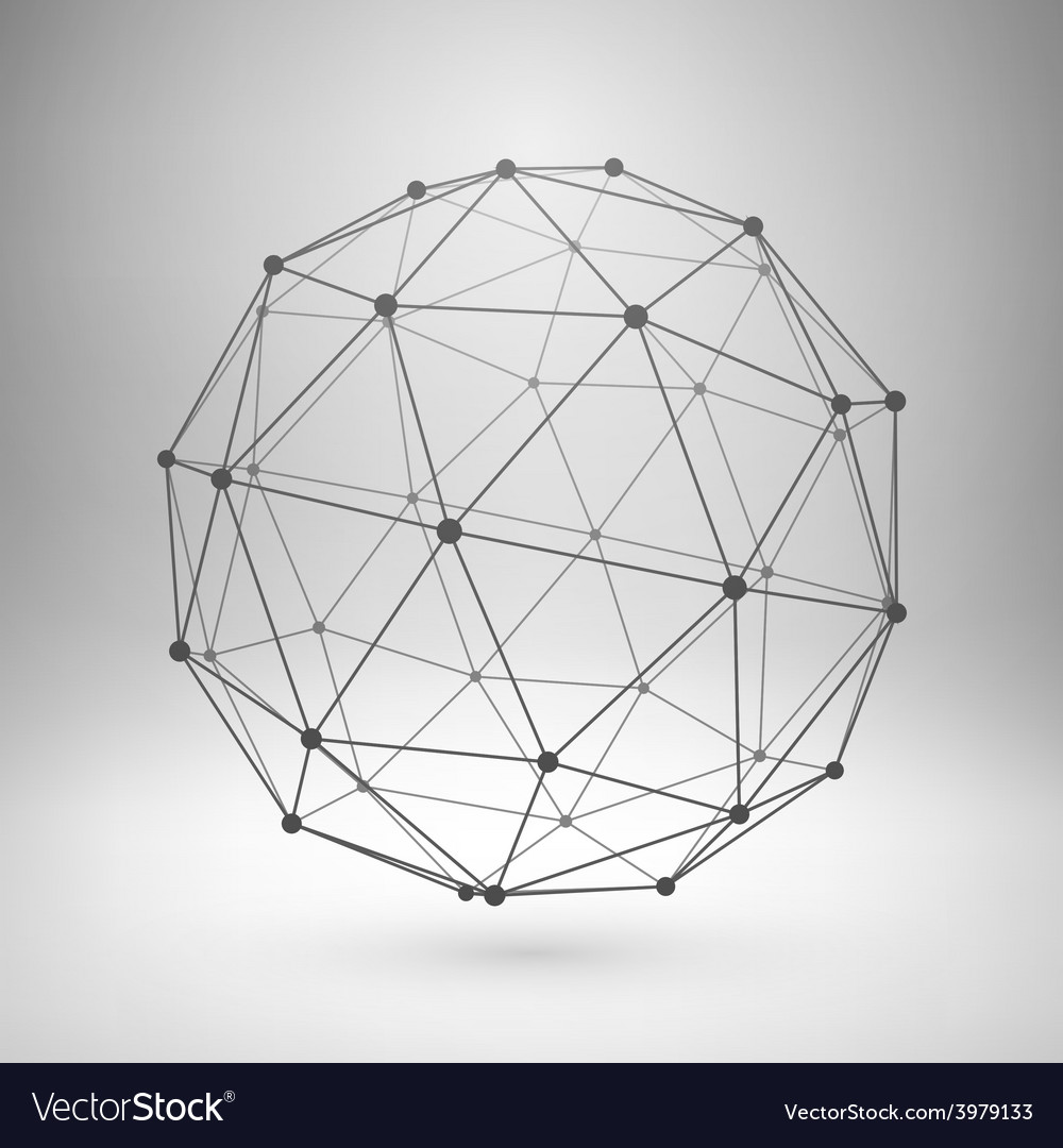 Wireframe Sphere Illustrator Wire Center Hart 5709n Power Receptacle 50a 250v Nema 650 2pole 3wire Ebay Mesh Polygonal Royalty Free Vector Image Rh Vectorstock Com Globe