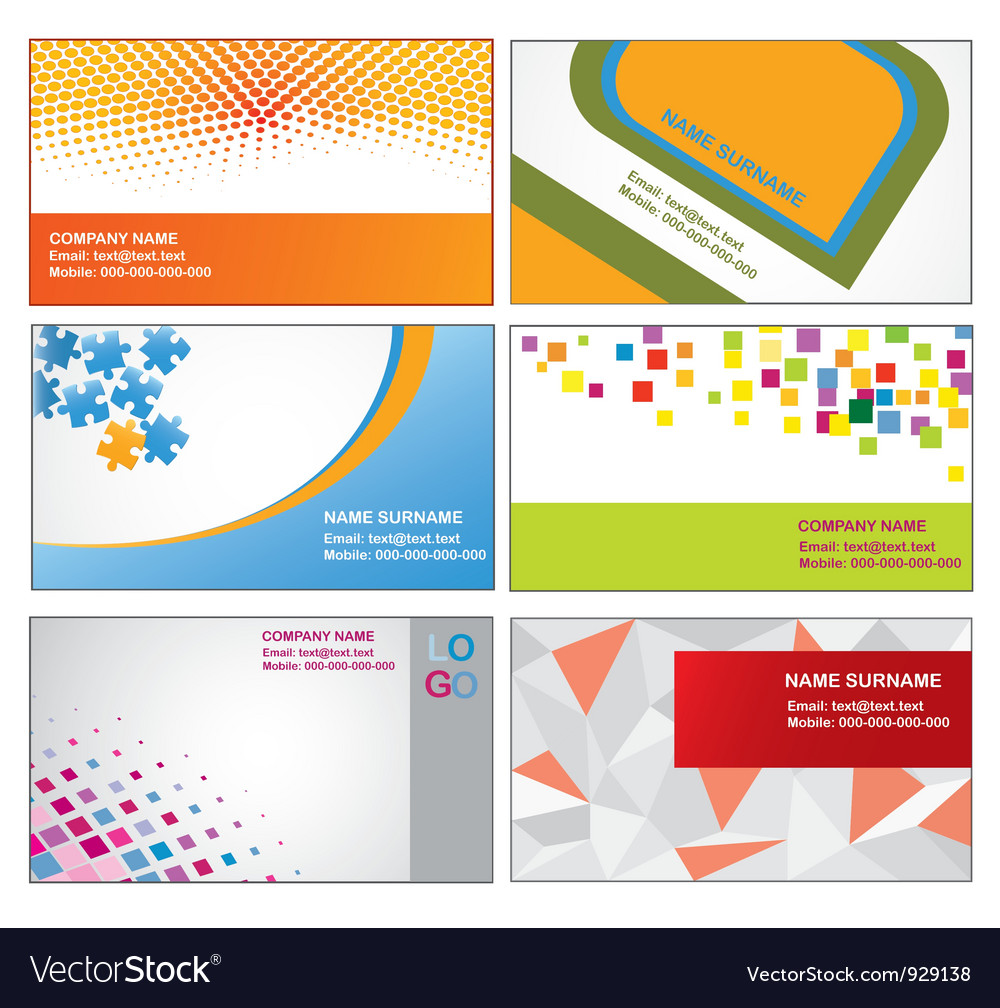 Business card templates royalty free vector image business card templates vector image colourmoves