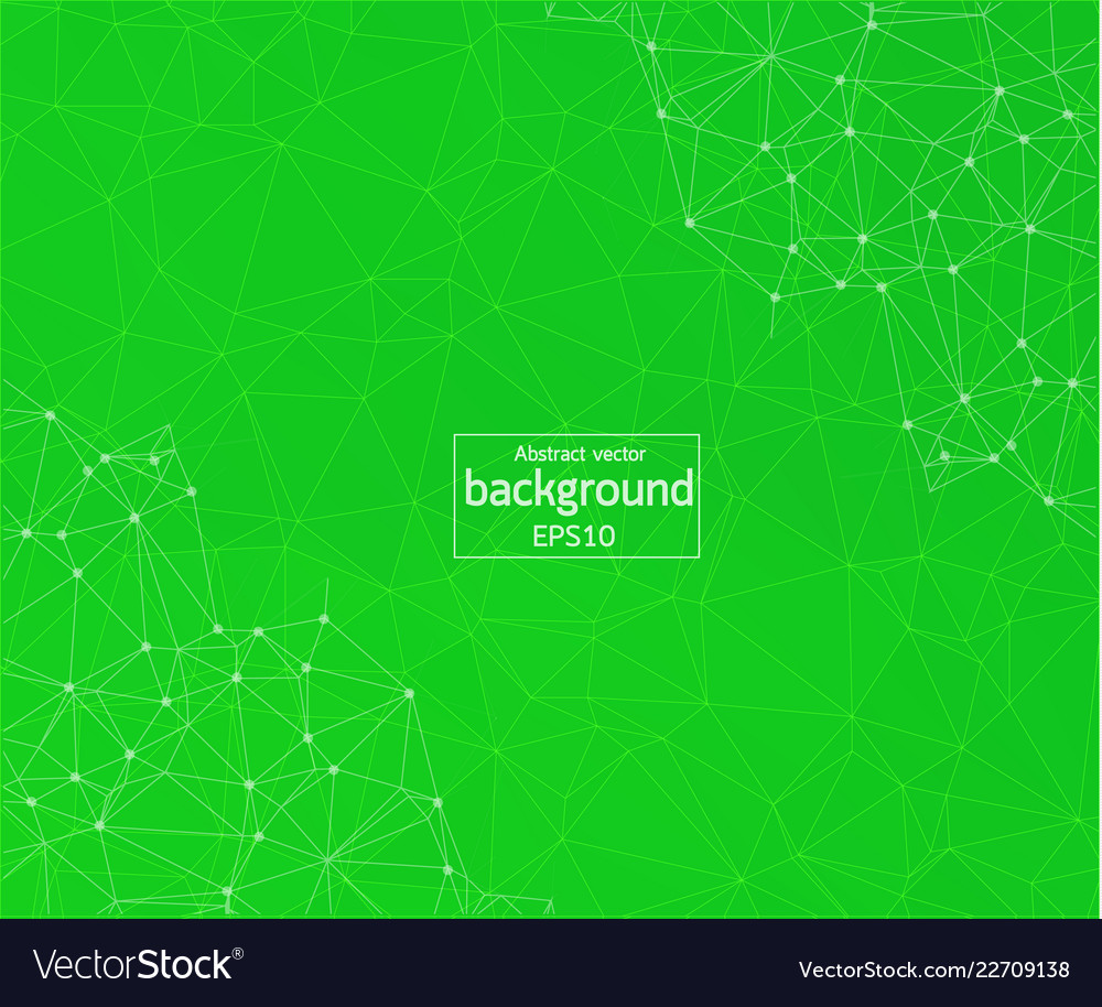 Geometric green polygonal background molecule and