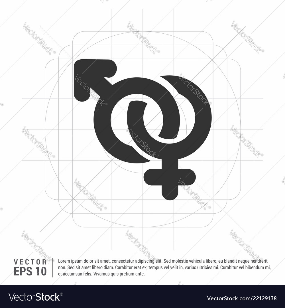 Male And Female Symbols Gender Icon Royalty Free Vector
