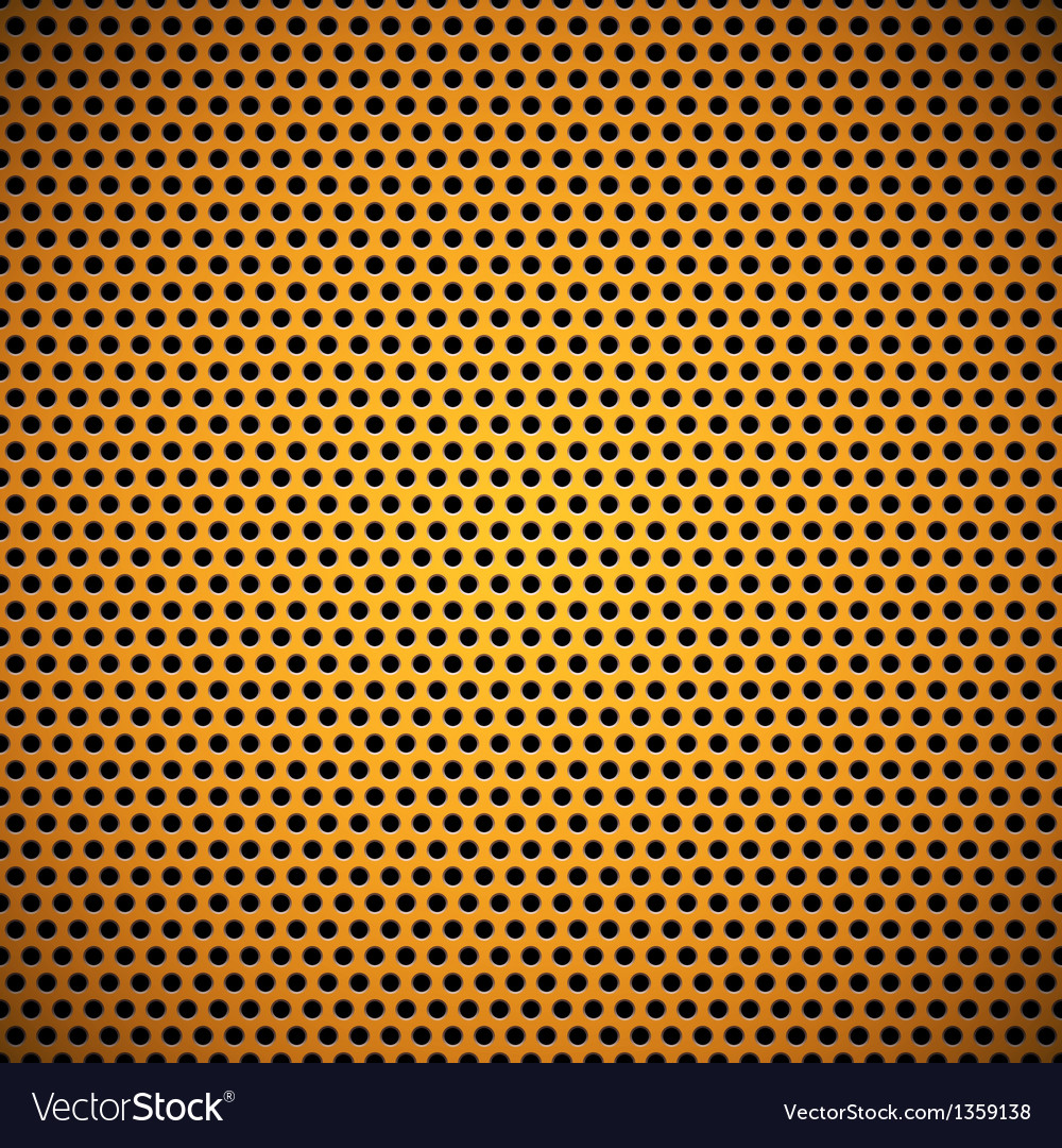 Orange Seamless Circle Perforated Grill Texture vector image