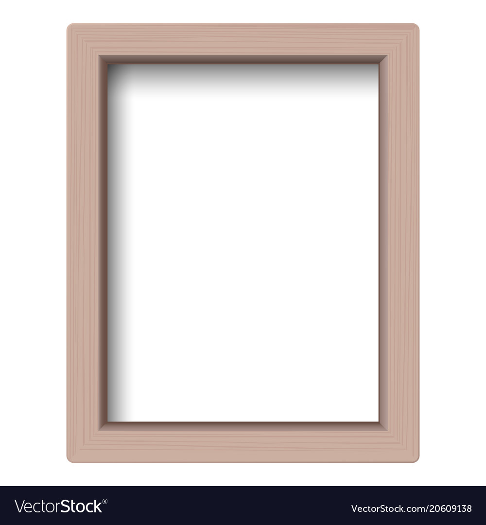Realistic picture frame isolated on white