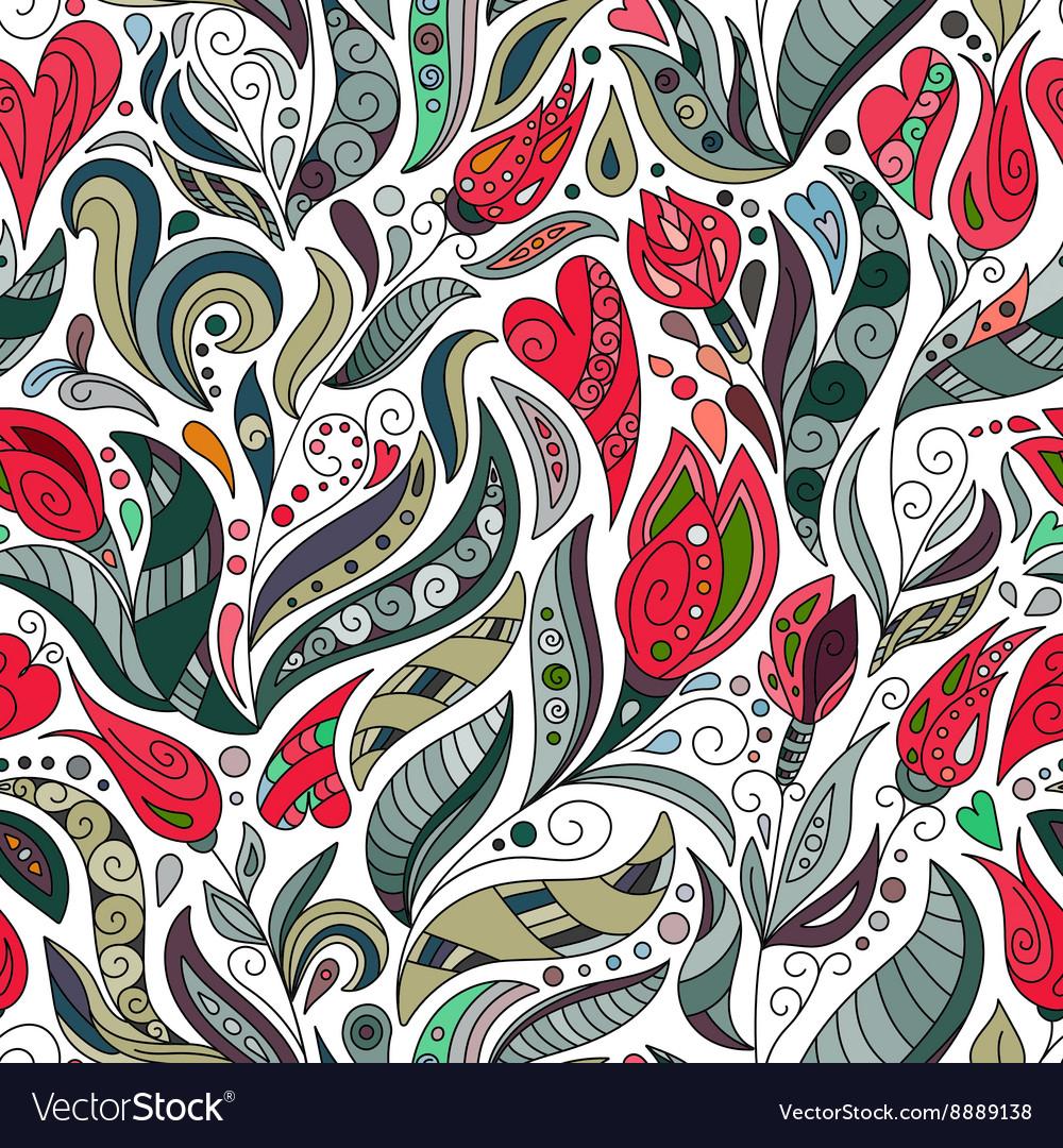 Seamless color pattern of spirals swirls