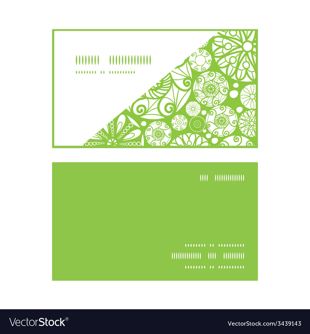 Abstract green and white circles horizontal corner