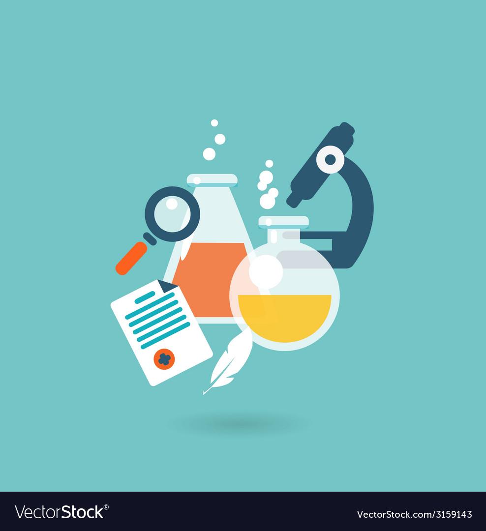 Flat design concept for chemistry