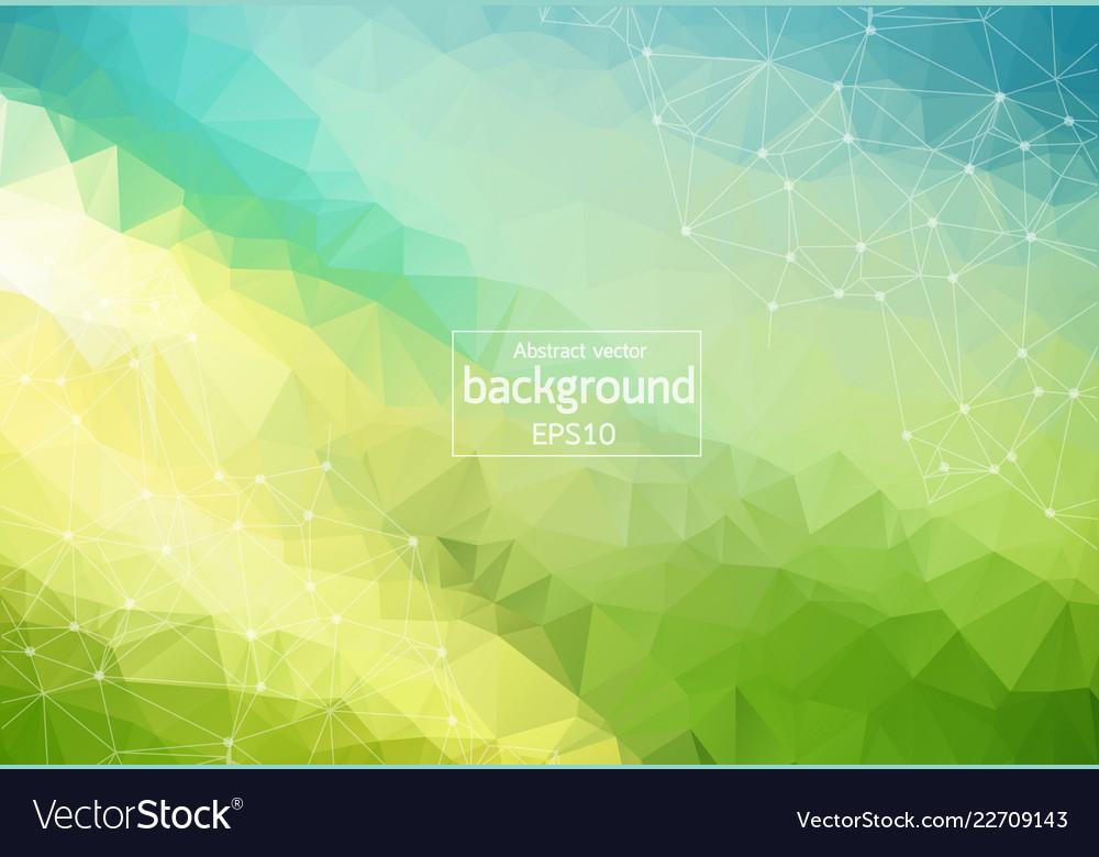 Geometric green blue polygonal background