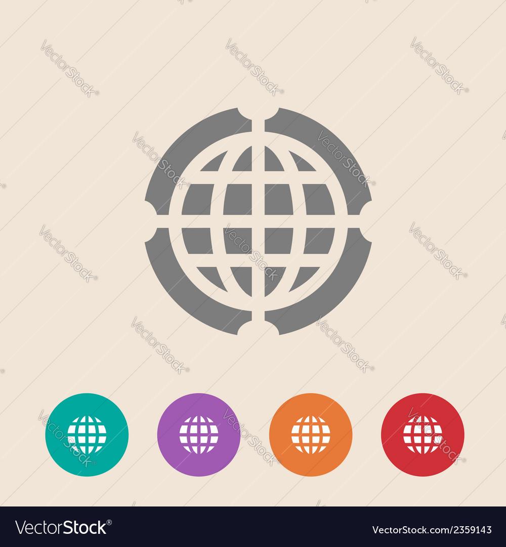 Globe Icon Flat design style