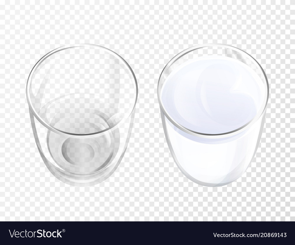 Milk glass realistic crockery