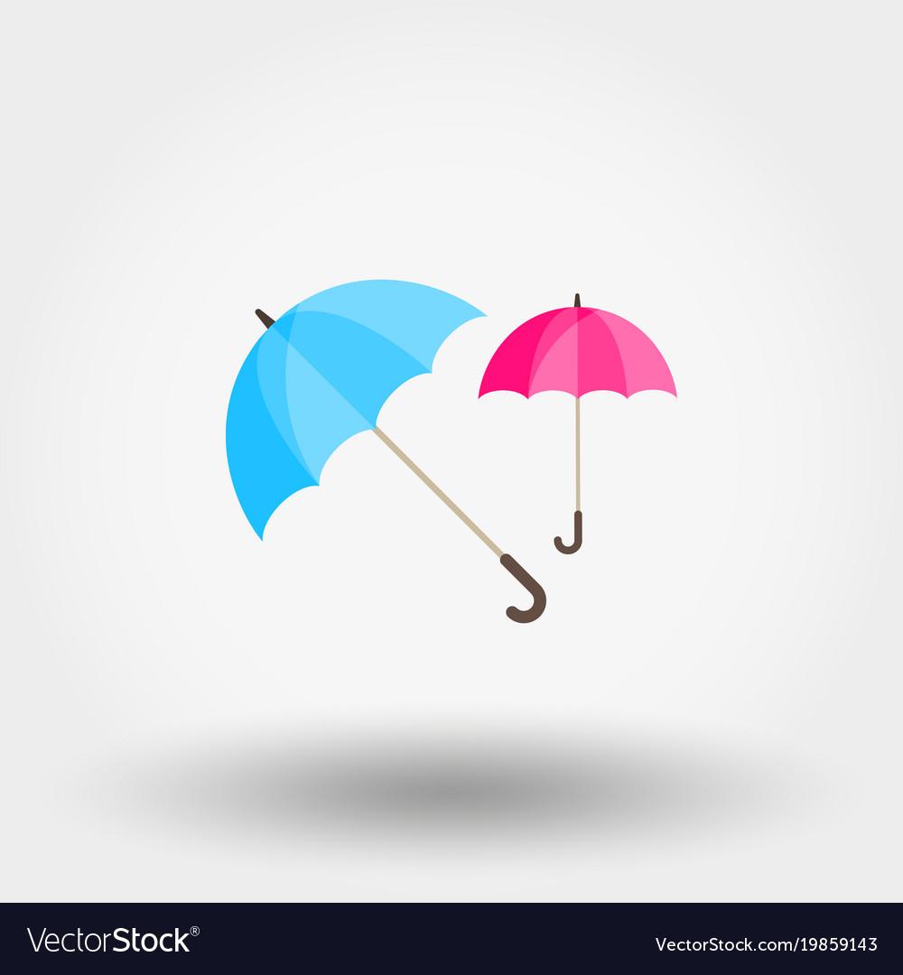 Rainwater umbrella vector image