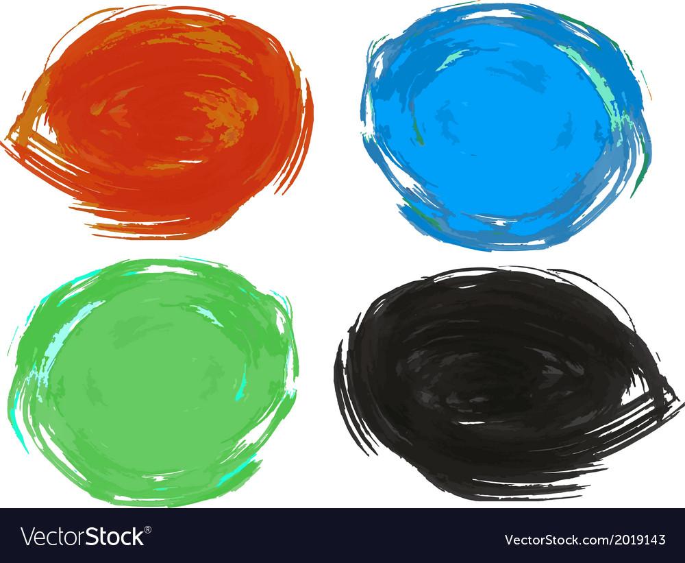 Set artistic brush