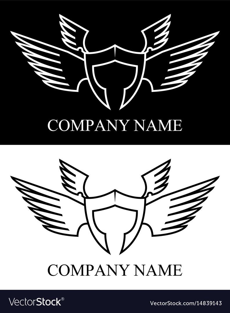 Sparta warrior wing logo