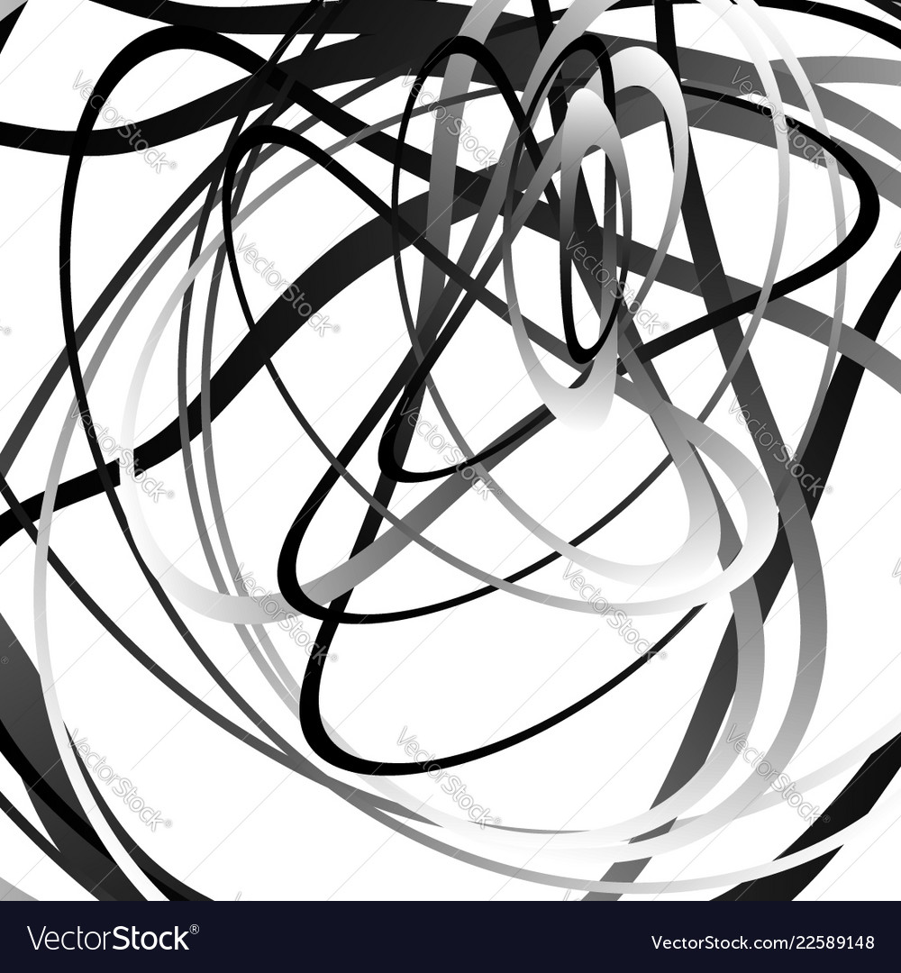 abstract squiggle squiggly curvy lines monochrome vector image