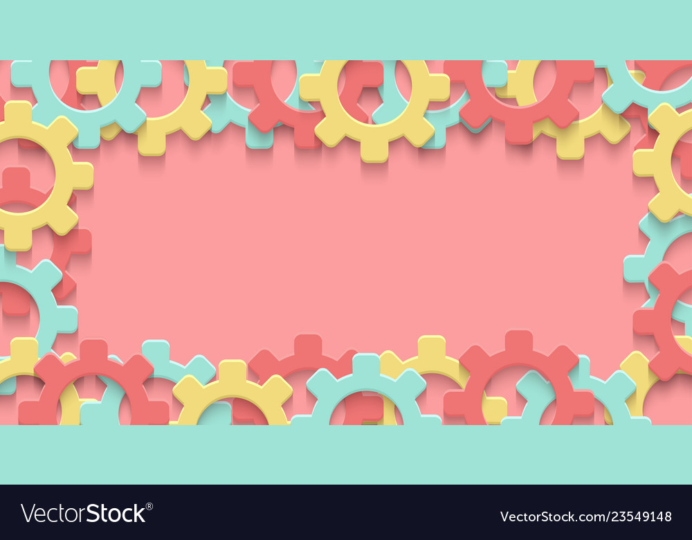 Cogs gear colorful art background
