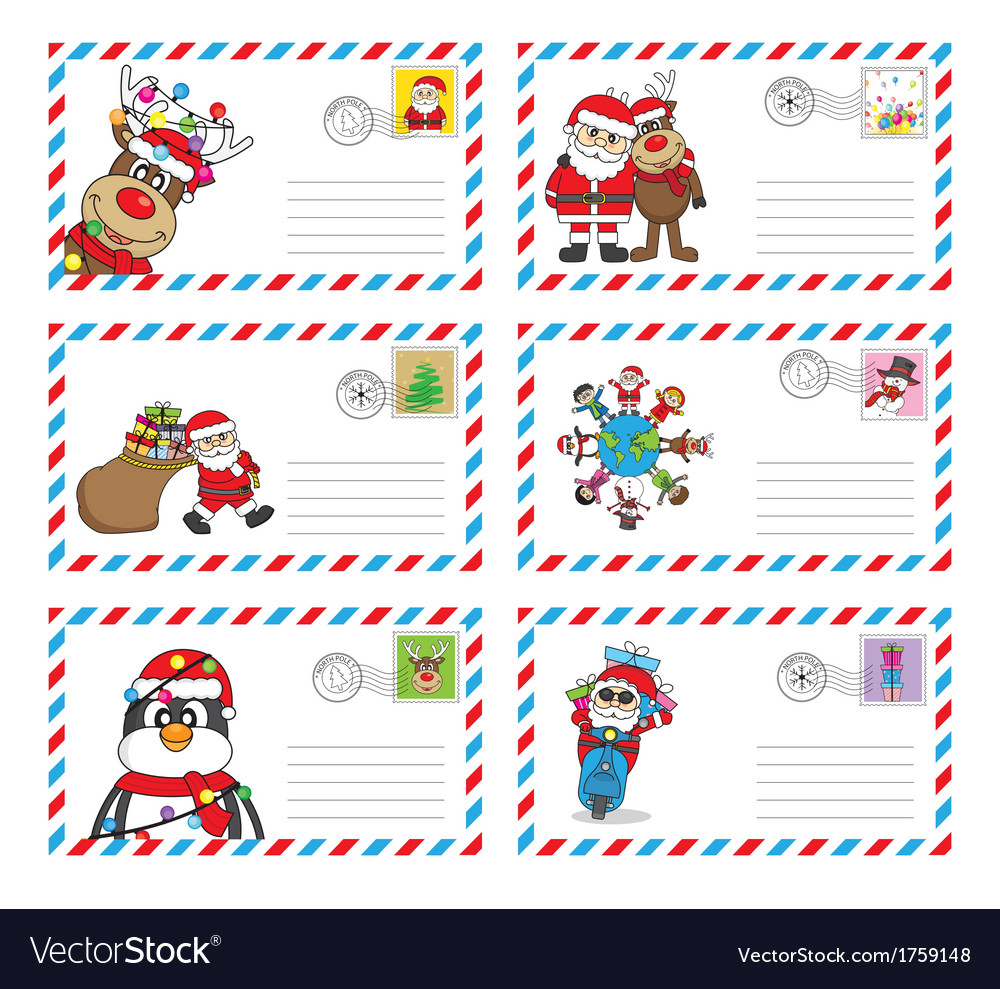 Envelope to send letter to santa claus
