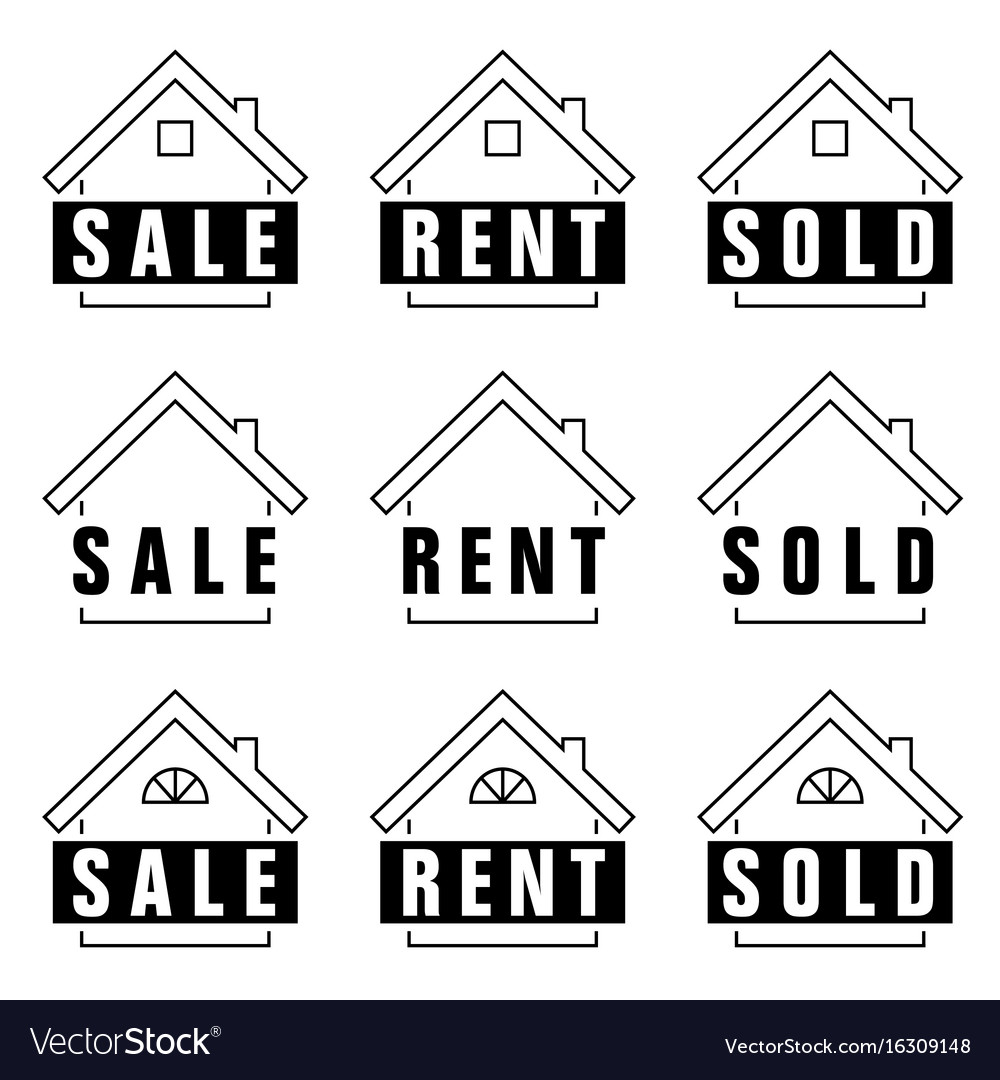 Home set sold icon in black and white color vector image