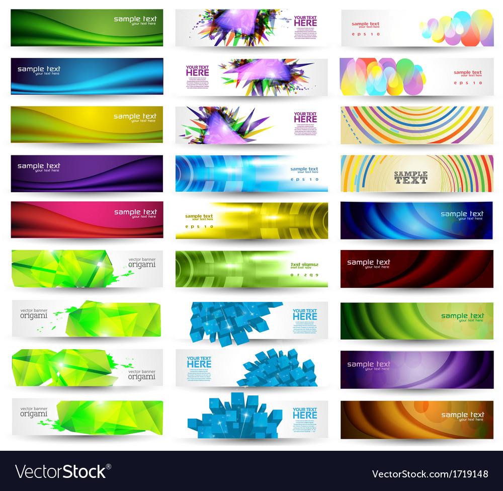 Huge Banner Set vector image