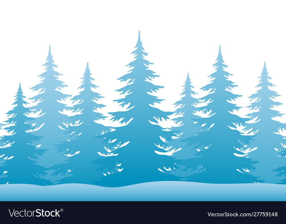 Landscape with christmas trees