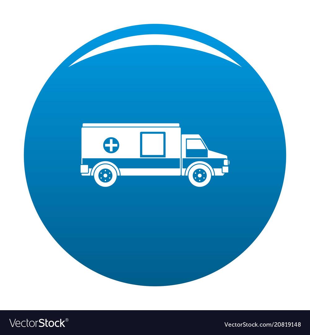 Medical aid icon blue